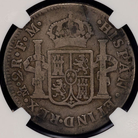 Mexcio - 1773 MoFM Mexico City Mint Charles III 2 Reales - KM.88.2 - NGC VG 8