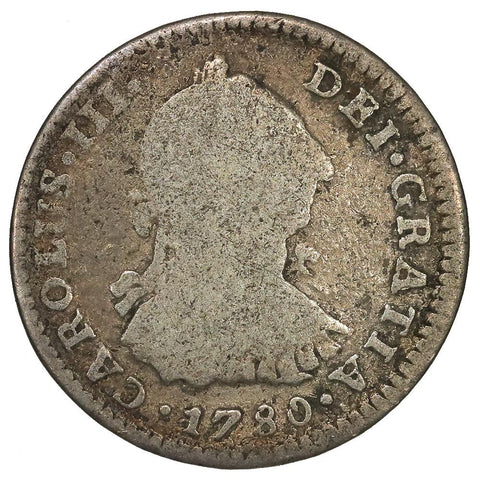 1780-MF Mexico Silver Real KM.78.2 - Very Good