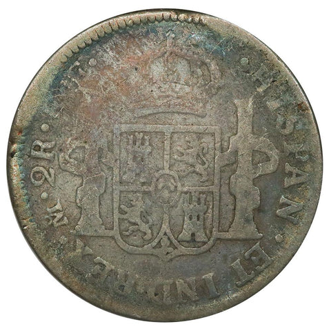1781-FF Mexico Silver 2 Reales KM.88.2 - About Good