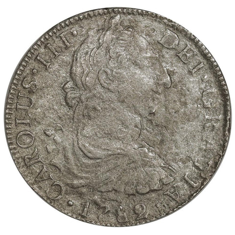 1782-FF Mexico Silver 8 Reales KM.106.2 - Very Fine, Salt Water Damage