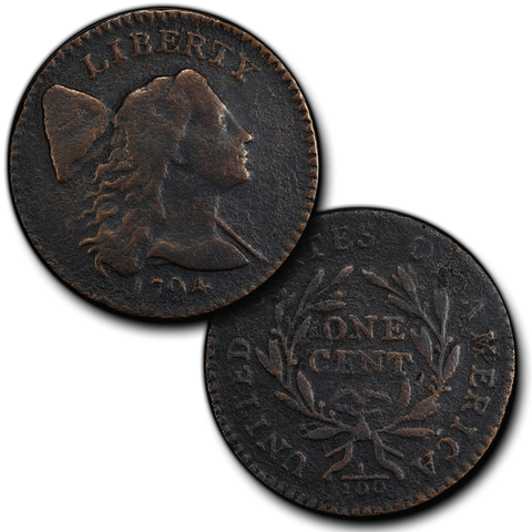 1794 Liberty Cap Large Cent - Head of 1794 - Very Fine Details