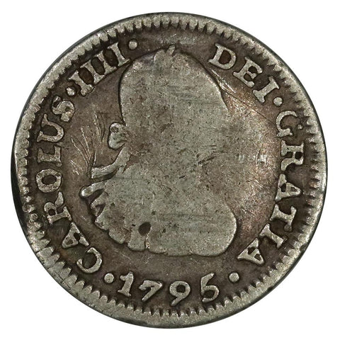 1795-FM Mexico Silver Half Real KM.72 - Very Good
