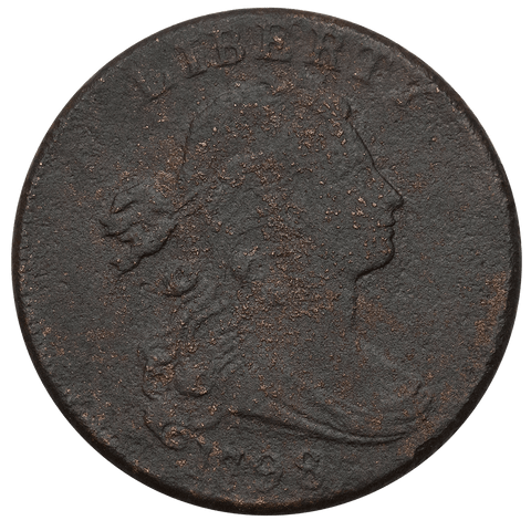 1798 2nd Hair Style Draped Bust Large Cent ~ Very Fine Details