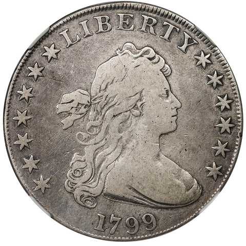 1799 Draped Bust Dollar B-165, BB-8 [R2] - NGC VG 10