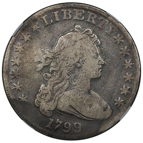1799 Draped Bust Dollar 7/6 Stars B-10, BB-163 R.1 - NGC VG 10