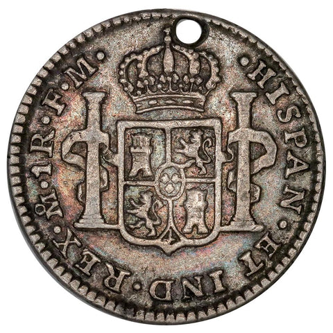 1799-FM Mexico Silver Real - KM. 81 - Fine Details Holed