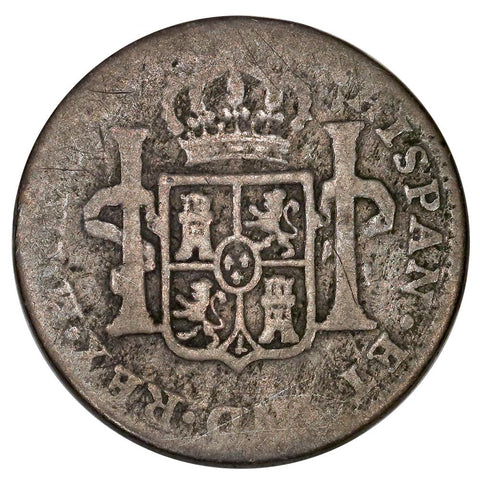 1805-TH Mexico Silver Real KM. 81 - Good