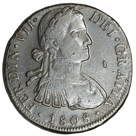 1808-TH Mexico Silver 8 Reales KM.109 - Very Fine