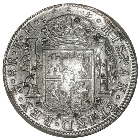 1808-TH Mexico Silver 8 Reales KM.109 - Very Fine Chopmarked