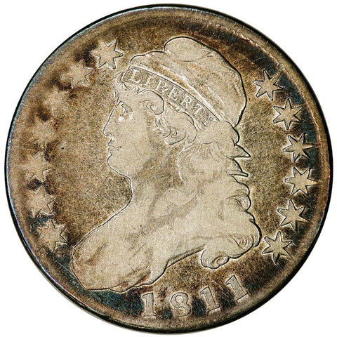 1811 Capped Bust Half Dollar - Overton 111 [R1] - Very Good