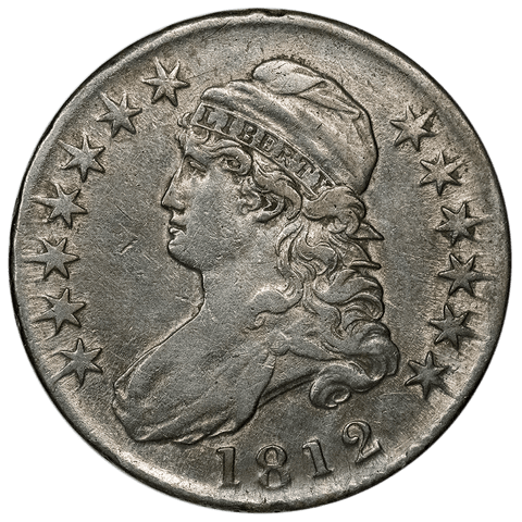 1812 Capped Bust Half Dollar - Overton 104 (R1) - Very Fine+