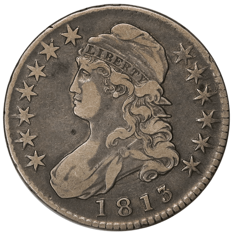 1813 Capped Bust Half Dollar - Overton 106 (R2) - Very Fine