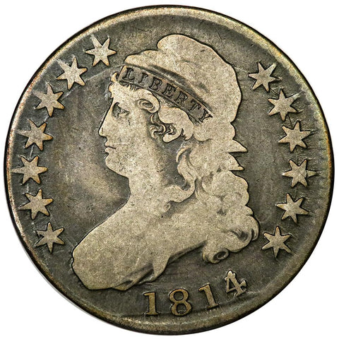 1814/3 Capped Bust Half Dollar - Overton 101A [R2] - Very Good+