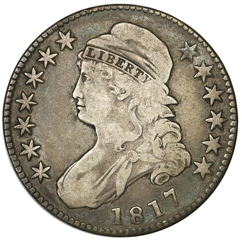 1817 Capped Bust Half Dollar - Overton 112 [R2] - Very Fine