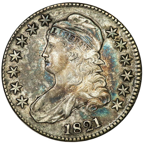 1821 Capped Bust Half Dollar - Overton 102 [R2] - Very Fine+