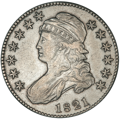 1821 Capped Bust Half Dollar - Overton 104a (R2) - Extremely Fine