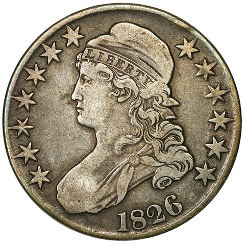 1826 Capped Bust Half Dollar - Overton 106A [R3] - Sharp Very Fine