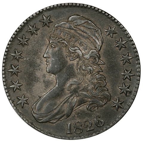 1826 Capped Bust Half Dollar - Overton 108a (R1) - About Uncirculated