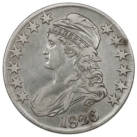 1826 Capped Bust Half Dollar - Overton 117a (R2) - Very Fine Details