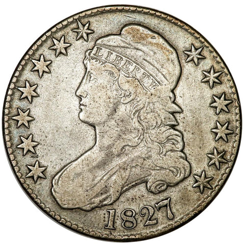1827 Sq. Base 2 Capped Bust Half Dollar - Overton 109 [R4] - Very Fine