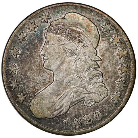 1829/7 Capped Bust Half Dollar - Overton 101a [R1] - Very Fine