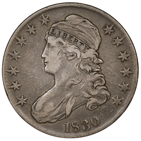 1830 Capped Bust Half Dollar - Overton 116 (R2) - Very Fine Detail