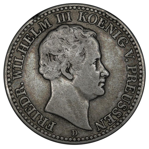 1830-D German States, Prussia Silver  Thaler KM.419 - Fine/Very Fine