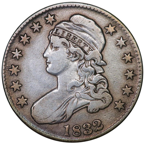 1832 Small Letters Capped Bust Half Dollar - Overton 113 [R2] - Very Fine