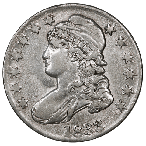 1833 Capped Bust Half Dollar - Overton 106 (R2) - Extremely Fine