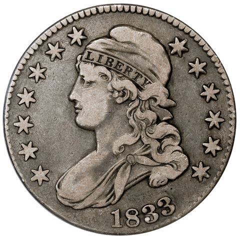 1833 Capped Bust Half Dollar - Overton 112 (R2) - Very Fine