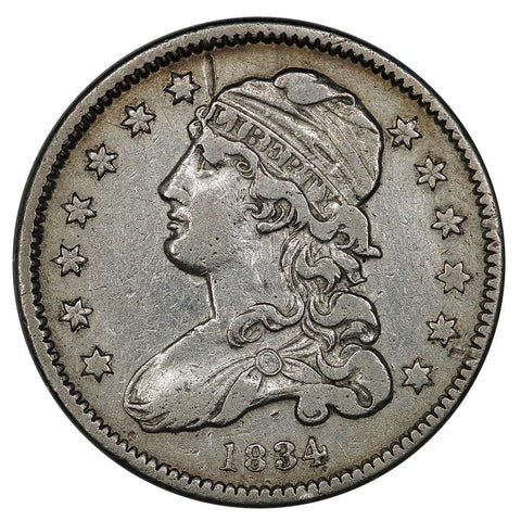 1834 Capped Bust Quarter B-4 (R1) - Very Fine Detail