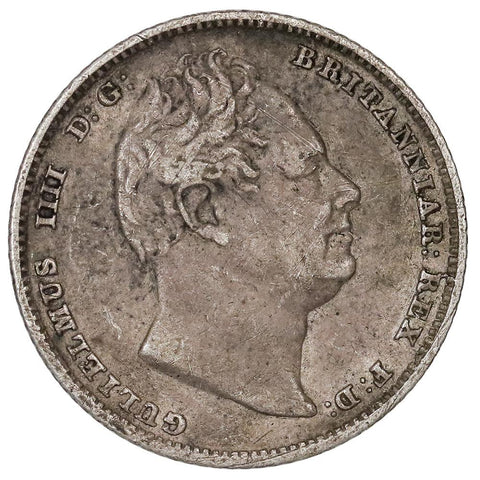 1834 Great Britain Silver Six Pence KM.712 - Very Fine