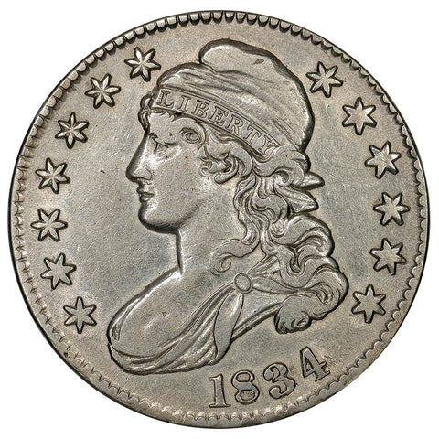 1834 LD/SL Capped Bust Half Dollar - Overton 105 [R1] - Extremely Fine