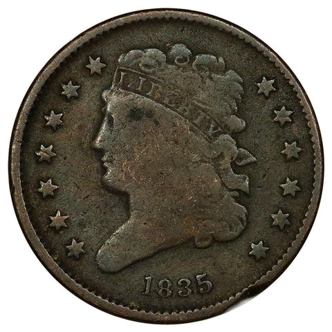 1835 Classic Head Half Cent - Very Good