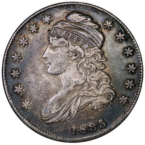 1835 Capped Bust Half Dollar - Overton 102 [R3] - Extremely Fine