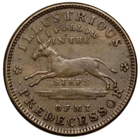 1837 Illustrious Predecessor Hard Times Token HT-32 ~ Extremely Fine