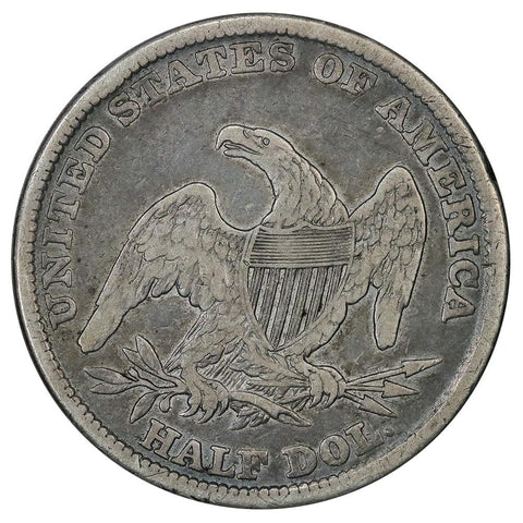 1838 Reeded Edge Capped Bust Half Dollar - Fine (chippy rim)