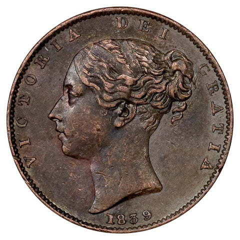 1839 Great Britain Farthing KM. 725 - Extremely Fine