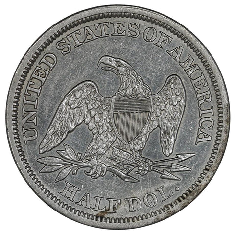 1842 Sm. Date/R. 1842 Seated Liberty Half Dollar - Uncirculated Details