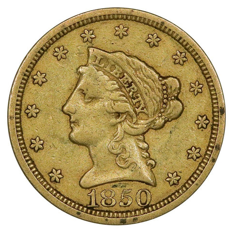 1850 $2.5 Liberty Gold Coin - Fine