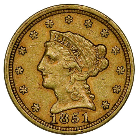 1851 $2.5 Liberty Gold Coin - Extremely Fine
