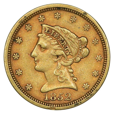 1852 $2.5 Liberty Gold Coin - Very Fine