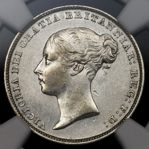 1852 Great Britain Victoria Silver Six Pence KM.733.1 - NGC AU 55