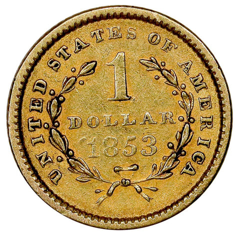 1853 Type-1 Gold Dollar - AU Details (Slightly Imperfect)