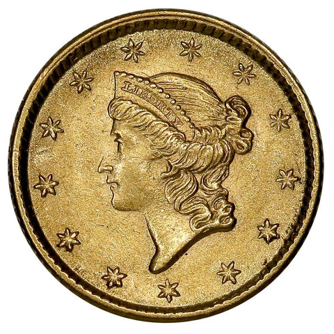 1853 Type-1 Gold Dollar - PQ Brilliant Uncirculated
