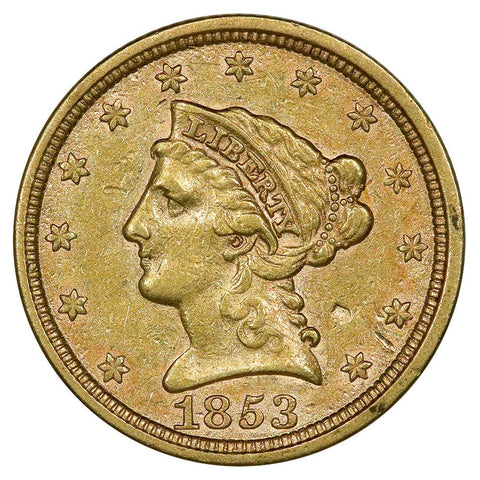 1853 $2.5 Liberty Gold Coin - Very Fine