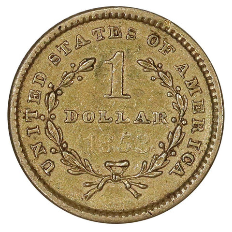 1853 Type-1 Gold Dollar - Extremely Fine Ex-Jewelry
