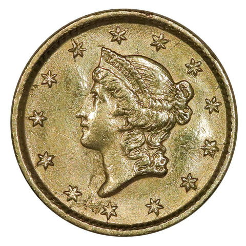 1854 Type-1 Gold Dollar - Extremely Fine Ex-Jewelry