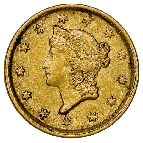 1854 Type-1 Gold Dollar - About Uncirculated