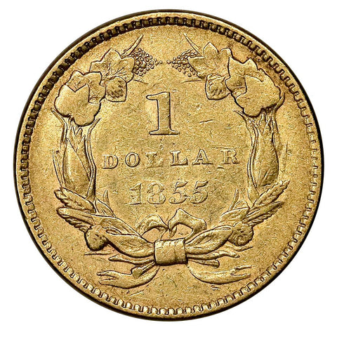 1855 Type-2 Gold Dollar - Very Fine
